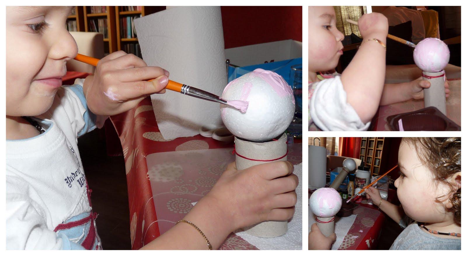 Peindre les boules, billes et fruits ronds facilement