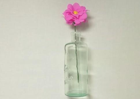 Une jolie fleur en crépon pour la fête des mères